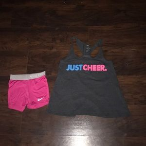 Nike pros & just cheer tanktop set
